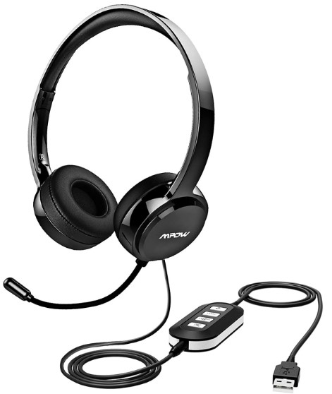 Mpow 071 USB Headset -Headset With Built In Microphone